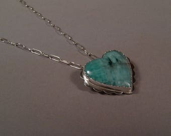 SS Emerald Heart Necklace