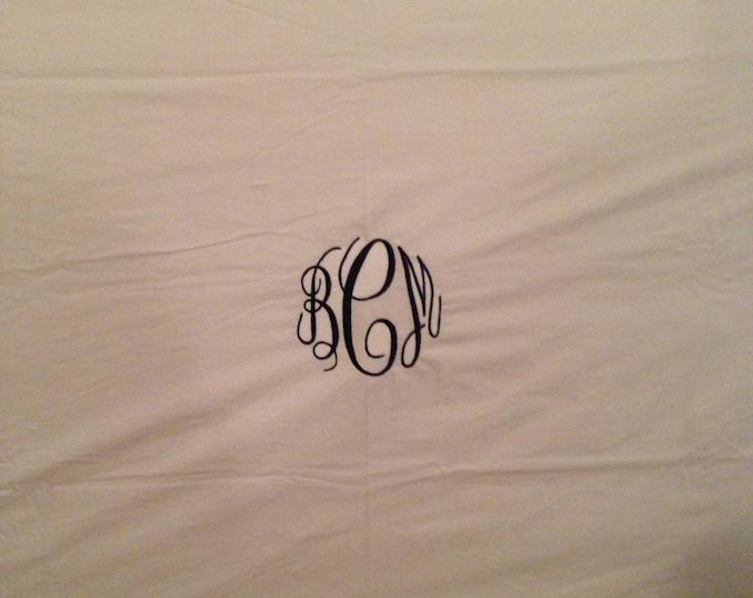Monogrammed Crib Sheet