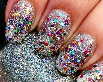 Glitterbomb handmade artisan nail polish