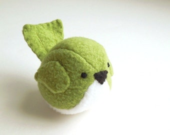 Childrens Bird Stuffed Animal in Grass Green Kids Plush Toy