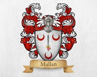 Mullan Family Crest - Print