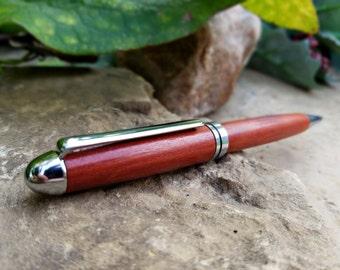 Wooden Pen - Wood Pen - Redheart Wood - Wooden Gift - Wood Gift - Medium Ballpoint Pen - Writing Pen - Wooden Gifts For Men - Handmade Pen