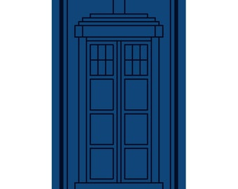 Tonal TARDIS - Original Cross Stitch Chart | Inspired by Doctor Who