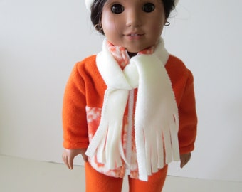 SALE. Made To Fit Like American Girl Doll Clothes; Doll Winter Coat; Doll Winter Jacket; Doll Fleece Zippered Jacket