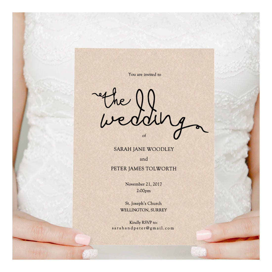 For Without Words Paper Wedding Invitations