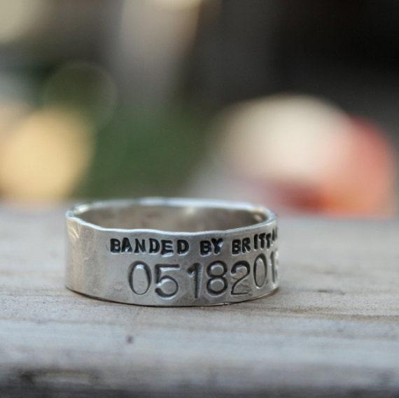 Duck Band Wedding Ring for Men and Women Unisex Personalized