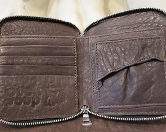 Leather Wallet, Brown Pebble DS101