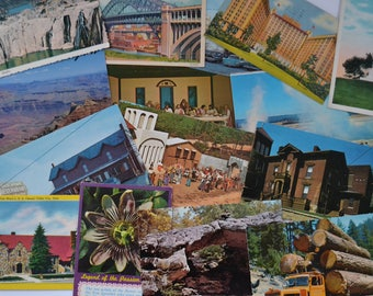 Vintage Ephemera Memory Iconic Souvenir Travel Postcards - Lot of 20 Random Postcards
