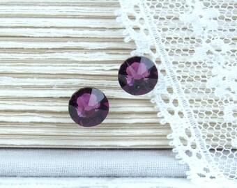 Purple Studs February Birthstone Purple Stud Earrings Crystal Stud Earrings Surgical Steel Studs