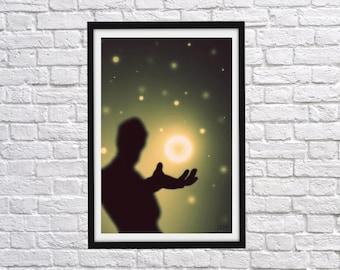 Birth of a Star, Digital Download, Digital Print, Digital Art, Photography, Art Print
