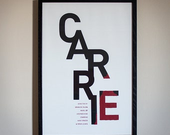 Carrie Minimal Movie Poster - Limited Screenprint