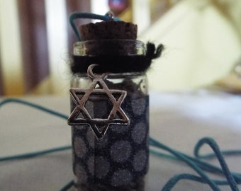 Star of David protective herb necklace