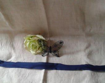 Dark polyester blue zipper