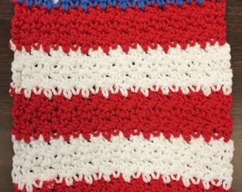Primitive Flag dishcloths