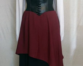 Medieval Pirate Layered Skirt