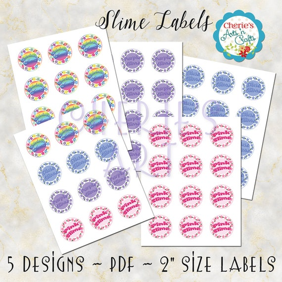 Slime Labels You Print At Home 2 Inch Circles Template For Avery