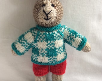 Hand knitted Boy bunny