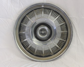 "Vintage 1966 Ford Thunderbird Wheel Cover Hubcap 15"" For Crafts, Clocks, etc..(L51233)"