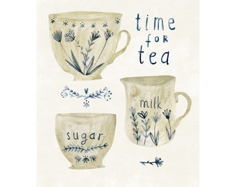 Time for Tea - archival art print - available in three sizes