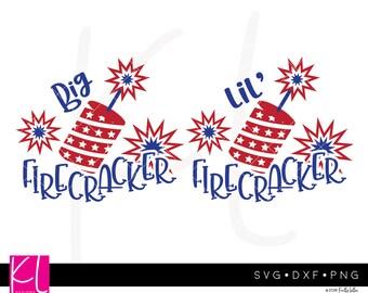 Lil' Firecracker svg, Big Firecracker svg, Little Firecracker svg, 4th of July svg, Toddler 4th of July, Baby 4th of July, Forth of July svg