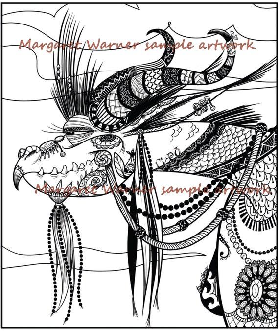 malvorlagen für erwachsene dragonkunstwerk
