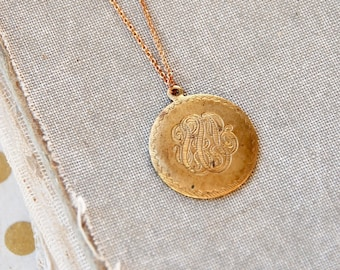 Brass coin necklace etsy aloadofball Images