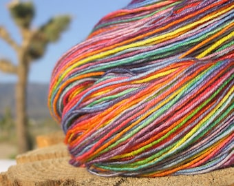 Fingering Weight Yarn - alpaca merino nylon - Rainbow