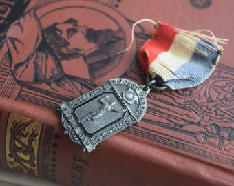 Antique Race Medal, 1920s Second Place Girls 50 Yd Dash Race Sports Award Pin, Girls Historical Collectible, Womens Civil Rights