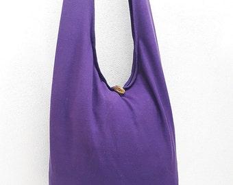 Women bag Handbags Thai Cotton bag Hippie bag Hobo bag Boho bag Shoulder bag Sling bag Messenger bag Tote bag Crossbody bag Purse Violet