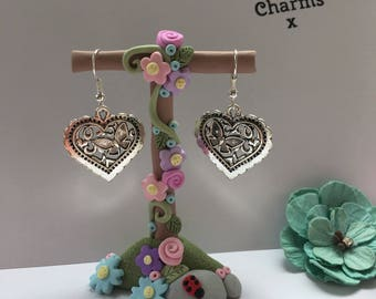 butterfly heart earrings, with gift box  x