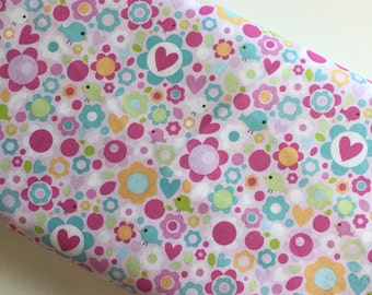 Sweet Home Floral Pink - Riley Blake - cotton woven fabric by the yard