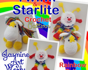 Twink and Starlite Rainbow Brite Crochet Pattern