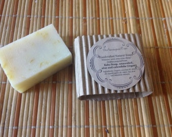 Organic Baby soap, unscented with aloe and calendula (vegan)