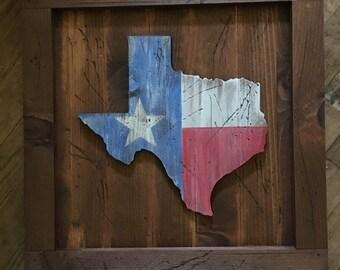 Rustic Texas hanging plaque