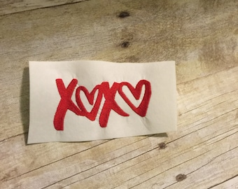 XOXO Embroidery Design, Love Applique