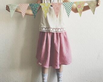 Muslin Skirt -Dusty pink (Musselin Rock- Altrosa)