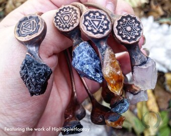 Chakra Symbols Simple Lotus Format XS for Clay Stamping