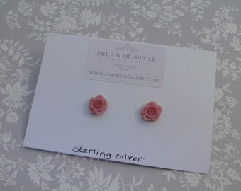 Blossom Stud Earrings - Pale Pink