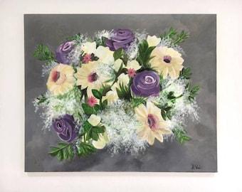 Flower Painting - Original Acrylic painting on Canvas