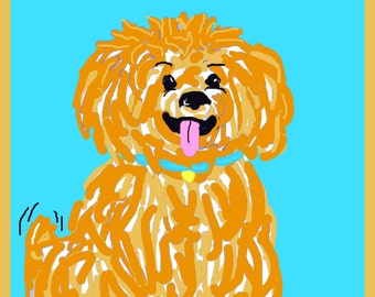 Art Print, Print, Doggie, Abstract, Love, Colorful, Fun