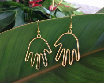 Hand Earrings Statement Best Selling Item SimpleNGreat Picasso Face + FREE GIFT BOX