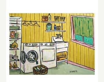 25% off Egret Doing Laundry Art Print