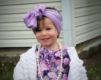 Wisteria Purple Messy Bow Headband