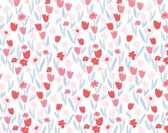 Aria Abloom in Cloud Begonia, Kate Spain, 100% Cotton, Moda Fabrics, 27236 21