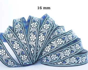 to order! 10 m couture lace embroidered jacquard * 16 mm wide