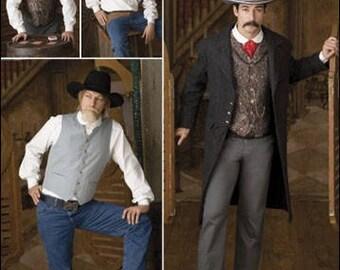 Simplicity Diy Sewing Pattern 2895 Cowboy Shirt,Vest and Jacket Size 46-52