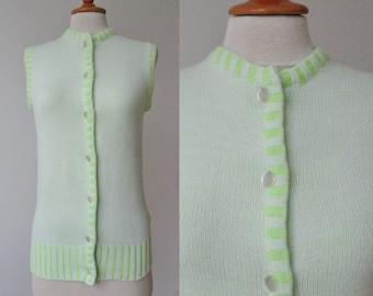 Green/White 60s Vintage Top // Vunnel
