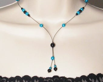Crystal Bridal - Collection Classica Cristelina - wedding - bridal necklace black turquoise, wedding jewelry, wedding jewelry