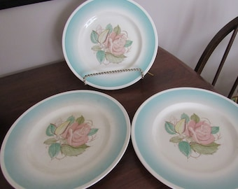 """Vintage Susie Cooper 9"""" salad/luncheon plate """"Patricia Rose"""" Pattern c.1930's"""