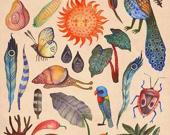 Tropical - A4 art print